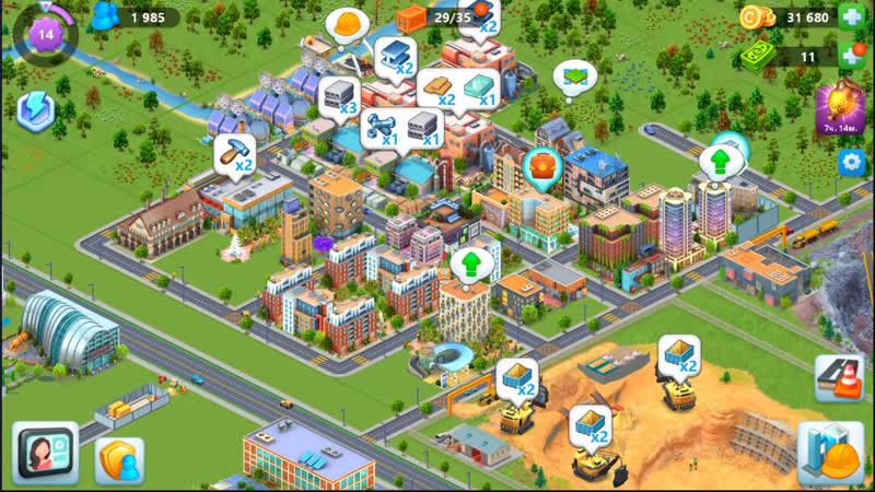 Global City развиваем город мечты Строительство Добыча ресурсов
