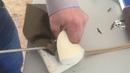 Утяжка пуговиц с помощью лент