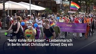 """""""Mehr Kohle für Lesben"""" – Lesbenmarsch in Berlin leitet Christopher Street Day ein"""