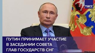 Путин принимает участие в заседании Совета глав государств СНГ