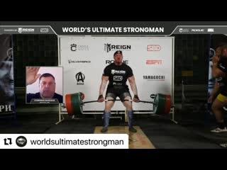 Михаил Шивляков установил новый рекорд мира в становой тяге среди «Мастеров» 436 кг!!!