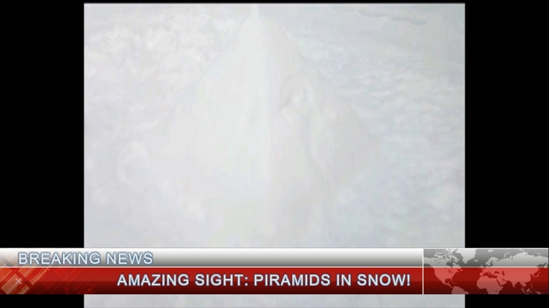Breaking news piramids in snow Последние новости пирамиды в снегу