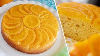 Тесто за 5 минут! АПЕЛЬСИНОВЫЙ ПИРОГ ПЕРЕВЕРТЫШ   нежный сметанный пирог с апельсинами