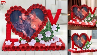 Love Couple!!.. Best DIY Paper - Heart Photo Frame Making At Home || Handmade Things