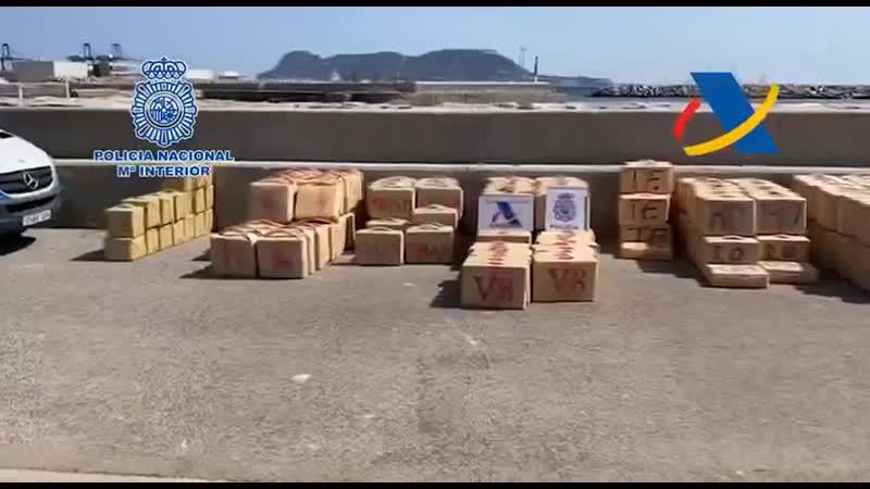 В Испании полицейские конфисковали 35 тонн гашиша у русско болгарской банды контрабандистов перевозили наркотики на яхте
