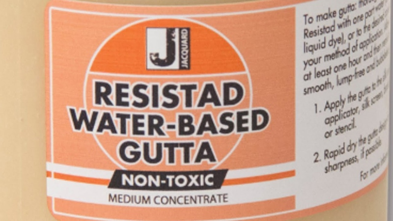 How to work with Jacquard's Resistad water based Gutta