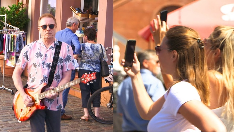 "Sensationeller Flashmob ""Music mit Mr Music John Miles himself in Landau"
