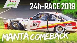 Opel Manta's EMOTIONAL Comeback after heavy Crash | 24h-Race Nürburgring