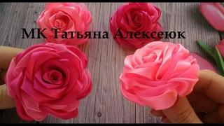 Необычные розы из атласной ленты и органзы 2,5 см / Beautiful Ribbon Bow / Bow tutorial / Kanzashi