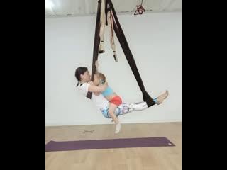 Тренировка вместе с ребёнком.