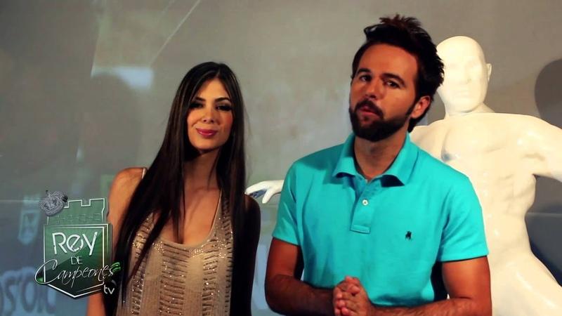 Saludo Mariana Davalos y Rafael Santamaria Rey de campeones TV