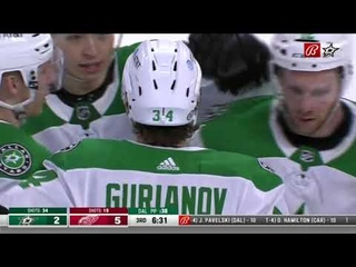 Denis Gurianov scores his 10th of the season vs Red Wings (2021)