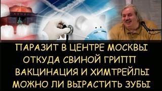 Н.Левашов: Паразит в центре Москвы. Откуда свиной грипп. Вaкцинация и химтрейлы. Как вырастить зубы