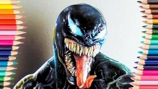 Рисуем VENOM! Как нарисовать Venom!