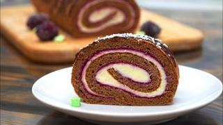 Вместо торта на праздник или просто к чаю! Шикарный рулет с кремом | Кулинарим с Таней