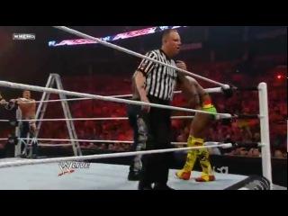 Kofi Kingston Evan Bourne Alex Riley vs. The Miz R-Truth Jack Swagger