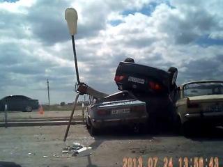 призимлилась машина с небес село Нововасильевка г Бердянск