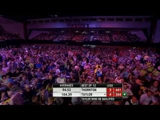 Robert Thornton vs Phil Taylor (2014 Premier League Darts / Week 15)