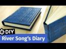 Doctor Who DIY River Songs Diary TARDIS Journal Sea Lemon