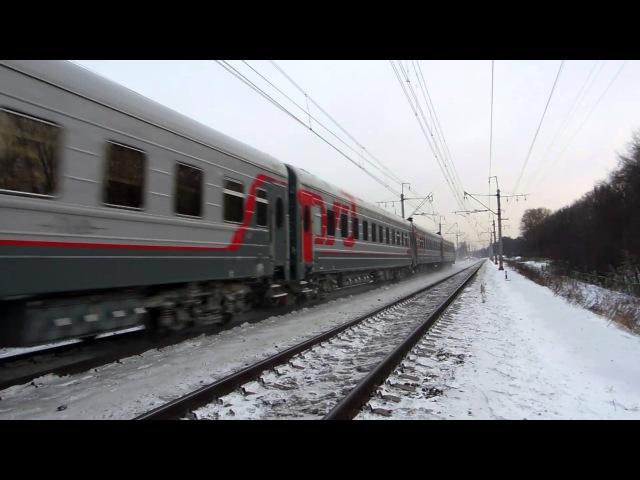 Электровоз ЧС6-020 (p/d) с поездом №268А (Москва → СПб)
