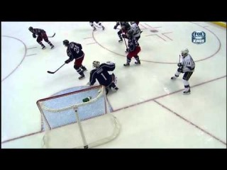 Slava Voynov rocket goal Feb 5 2013 LA Kings vs Columbus Blue Jackets NHL Hockey