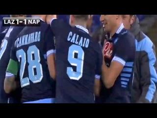 Campagnaro amazing goal   Lazio 1 - 1 Napoli  HD