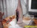 Декупаж свадебной бутылки Шампанского 1 МАСТЕР КЛАСС