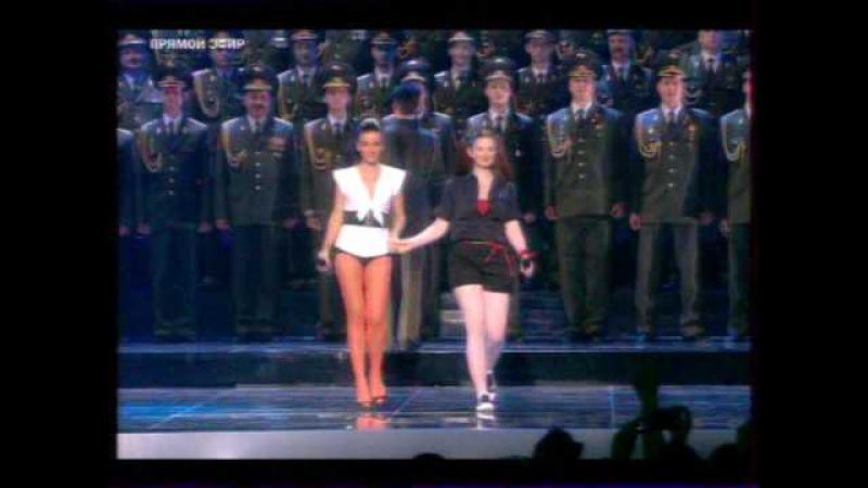 Танк и самолет производства Русбал на Евровидении