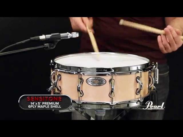 Pearl 14x5 Premium Maple SensiTone Snare Drum