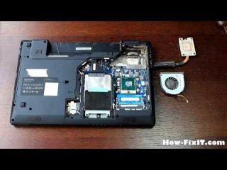 Lenovo G570 (G575) чистка ноутбука от How-FixIT