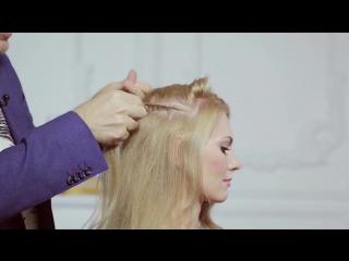 Крепим гребень на распущенные волосы от Руслана Татьянина