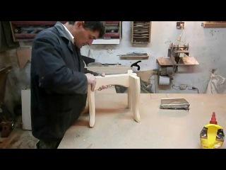 Скамейка на ласточкиных хвостах. Chair. Homemade stool wooden