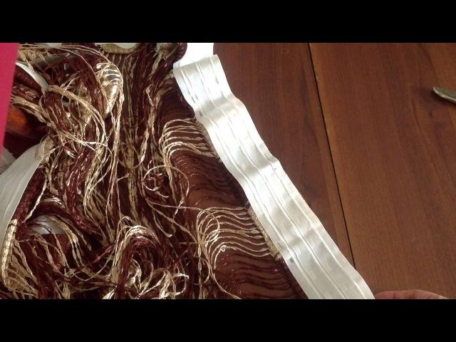 Как повесить нитяную штору на карниз