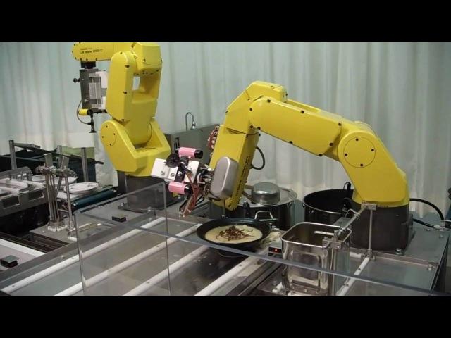 FAMEN Ramen preparado por robots industriales Ramen done by industrial robots