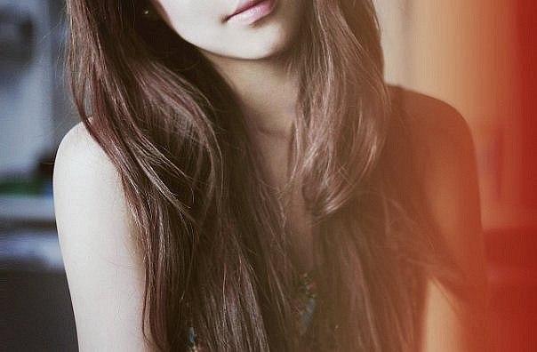 Картинки девушек с темно русыми волосами без лица