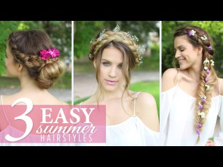 3 Easy HEATLESS Summer Hairstyles | Luxy Hair