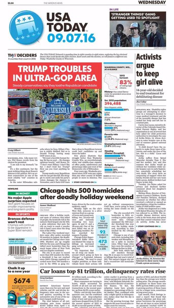 USA Today  September 07 2016