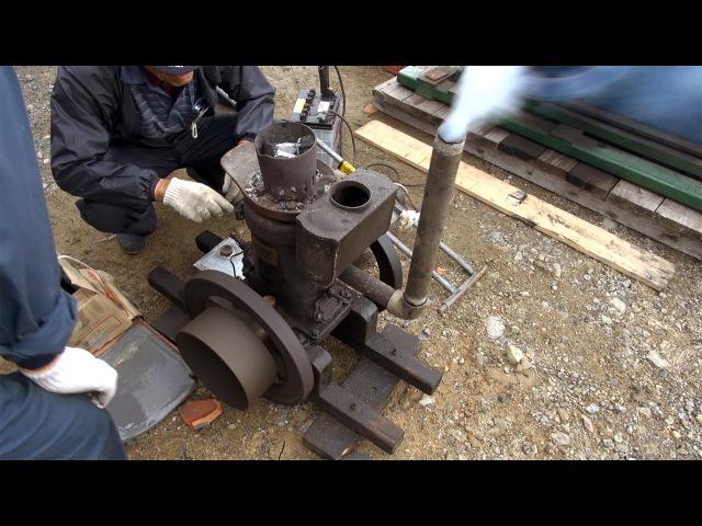 Old Engines in Japan 1930s SATO's SEMI DIESEL ENGINE 2hp Part 1 いにしえの発動機たち 1933年頃 サトー式軽油発動機 2馬2
