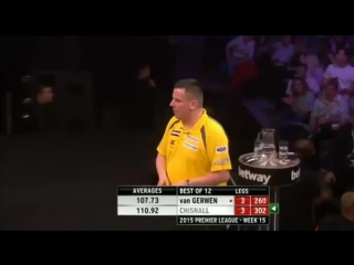 Michael van Gerwen v Dave Chisnall (2015 Premier League Darts / Week 15)