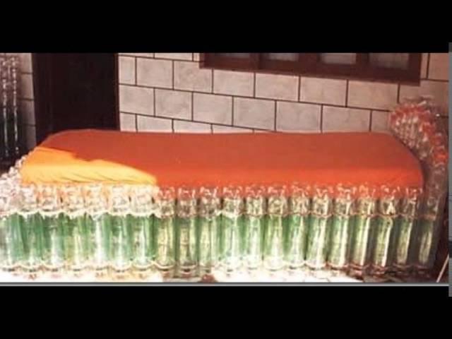 Чудоковатая мебель из пластиковых бутылок