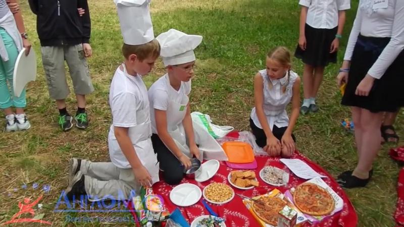 Летний лагерь Англомира 2015 Проект Ресторан часть 1