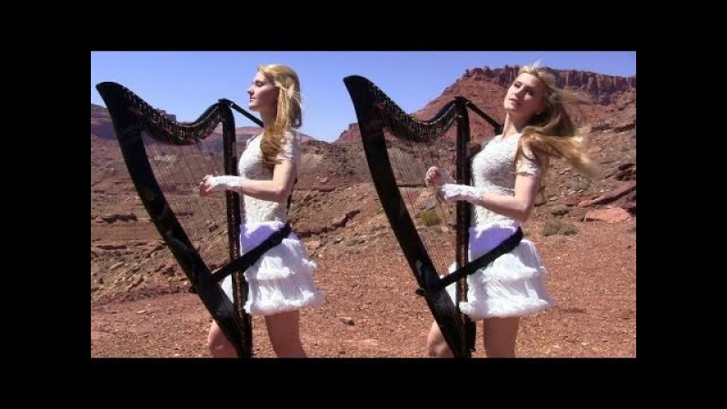 SCORPIONS Send Me An Angel Harp Twins Camille and Kennerly HARP ROCK METAL