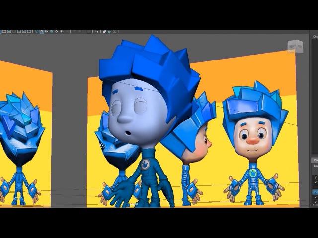 Секреты фиксиков 2 3D модели Как создается мультфильм