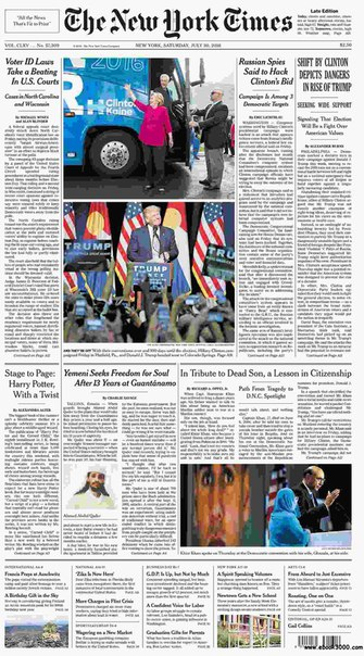 The New York Times  July 30 2016