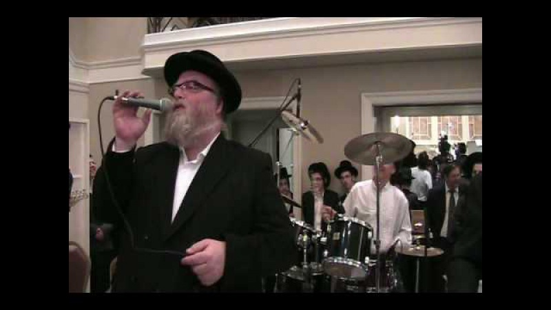 Michoel Schnitzler Sings the First Dance With Matt Hill Drumming At The Lang Lew Wedding