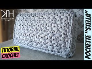 Tutorial uncinetto pochette Stella | Punto stella | Crochet star stitch | Katy Handmade
