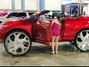 AceWhips- Lauren's Candy Red Murano Vert on 34 Amani Forged