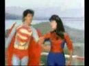 An indian movie about superman and spiderwoman doing... things