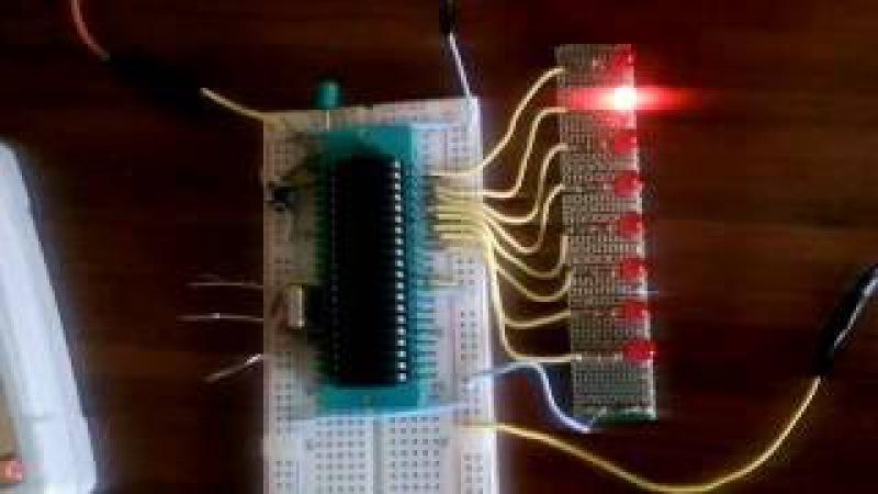 UYGULAMA-2 Micro C for PIC - PIC18F4550 ile 8 Adet led yak-söndür devresi (Kara Şimşek Devresi)