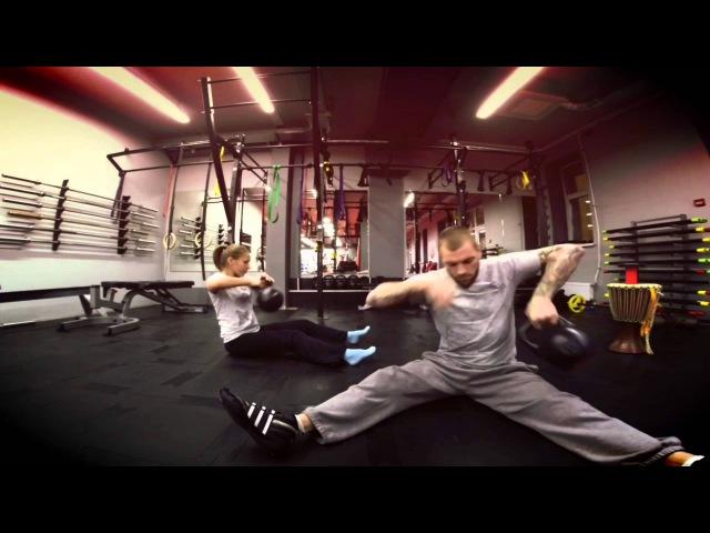 Упражнения с гирей тренировка с 16 кг гирями от Андрея Басынина